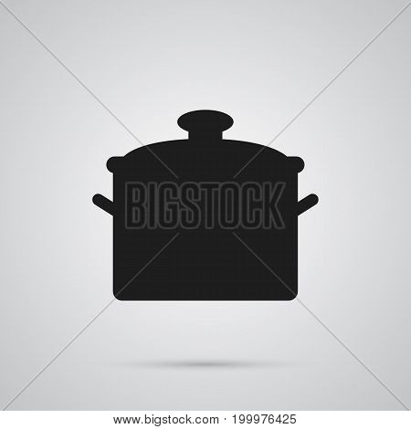Vector Pan Element In Trendy Style.  Isolated Saucepan Icon Symbol On Clean Background.