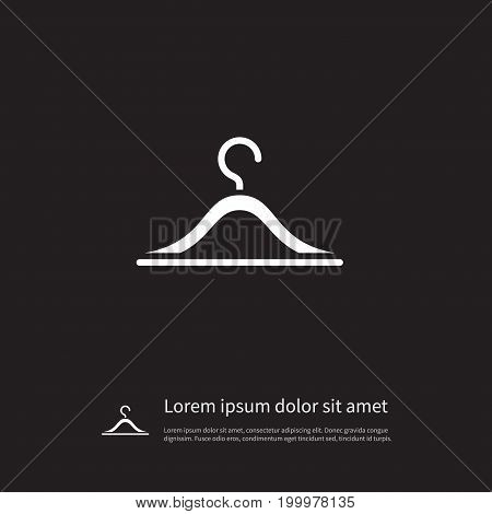Hook Vector Element Can Be Used For Hanging, Hook, Checkroom Design Concept.  Isolated Checkroom Icon.