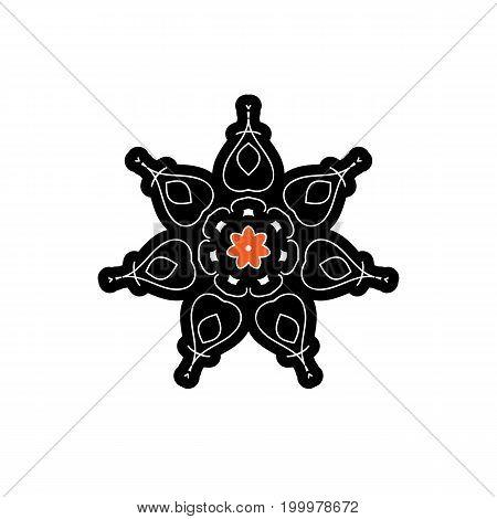 Beautiful flower line decoration vector logo icon
