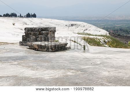 Hierapolis Antique Tomb In Pamukkale, Turkey