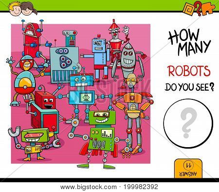 Counting Robots Educational Game For Kids