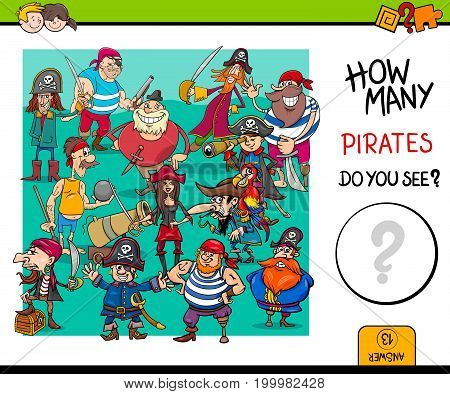 Counting Pirates Educational Game For Kids