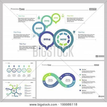 Infographic design set can be used for workflow layout, diagram, annual report, presentation, web design. Business and production concept with process and percentage charts.