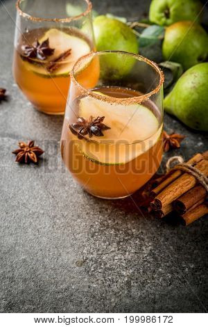 Spicy Fall Pear Cocktail