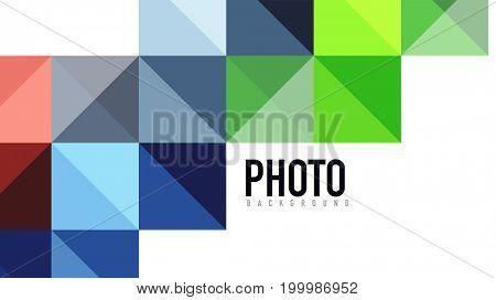 Modern geometric presentation background. Business concept or digital technology element, brochure or flyer design for web banner layouts