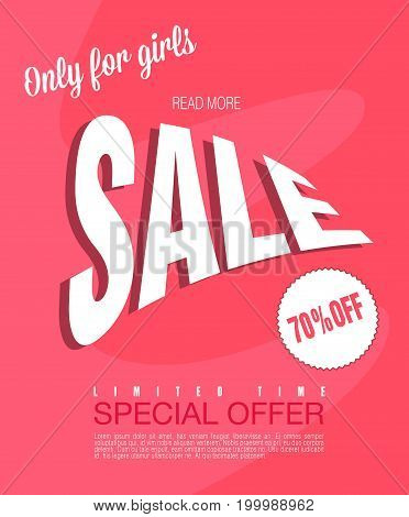 Sale background. Big sale. Sale tag. Sale poster. Sale vector. Special offer for flyer, banner or template design for your business. Abstract background for Poster design Layout template