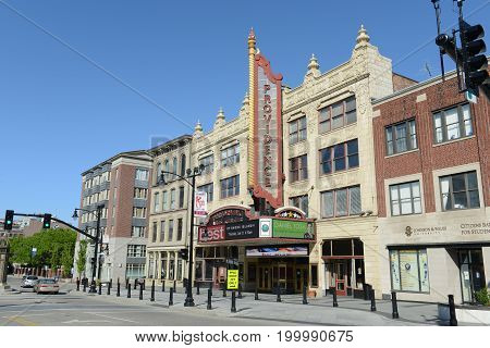 PROVIDENCE, RI - MAR 27, 2016: Providence Performing Arts Center PPAC formerly Loew's State Theatre and Palace Concert Theater was built in 1928 at 220 Weybosset Street, Providence, Rhode Island, USA.