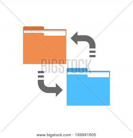 Data Synchronization Icon Computer Connection Database Access Synchronize Technology Vector Illustration