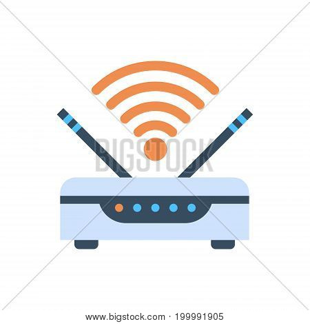 Wifi Router Wireless Internet Connection Icon Vector Illustration