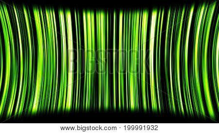 Abstract Motion Background With Green Stripes