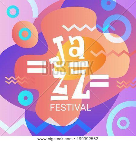 Jazz Festival Live Music Concert Poster Advertisement Banner Vector Illustration