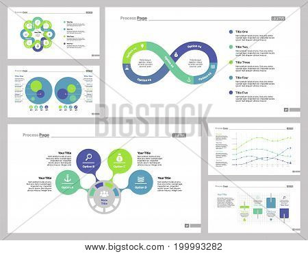 Infographic design set can be used for workflow layout, diagram, annual report, presentation, web design. Business and accounting concept with process, line and percentage charts.