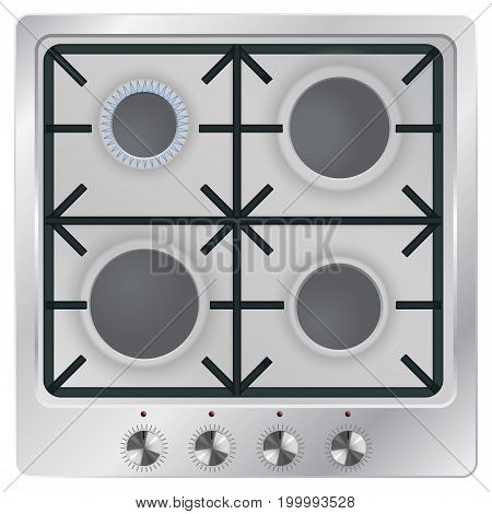 Gas oven. Vector illustration isolated on white background
