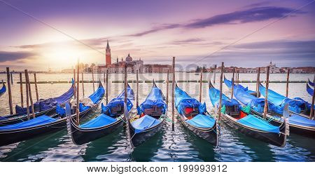 venice at the early morning at sunrise