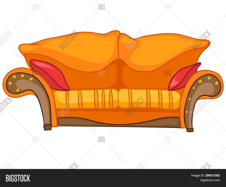 Vector Y Foto Dibujos Animados Hogar Muebles Sof Bigstock # Muebles Dibujos Animados