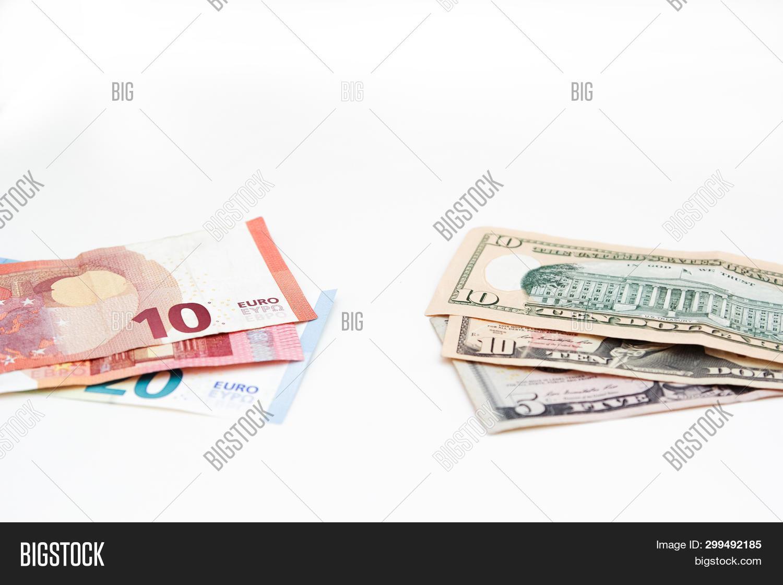 American Euro Dollars Image Photo