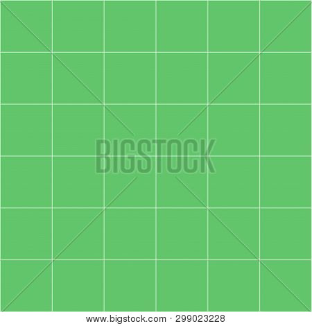 Grid Square Graph Line Full Page On Green Paper Background, Paper Grid Square Graph Line Texture Of