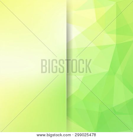 Abstract Green Mosaic Background. Blur Background. Triangle Geometric Background. Design Elements. V
