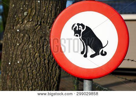 Bord Verboden Voor Honden Uit Te Laten