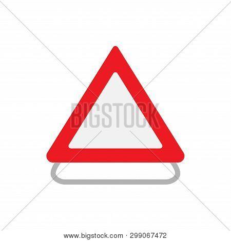 Road Construction Sign Transportation Urban Concept Vector Icon. Flat Outdoor Attention Alert Roadwo