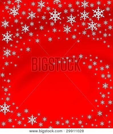 spiraling Snow Flakes
