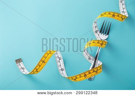 Diet Concept On Blue Background