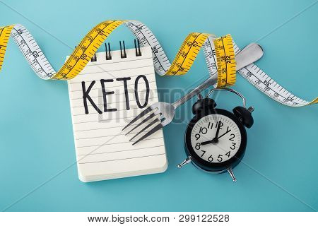 Ketogenic And Intermittent Fasting Concept