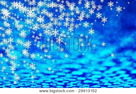 christmas and winter snow background (winter series B)