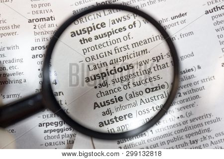 Word Phrase Auspicious Image & Photo (Free Trial)   Bigstock