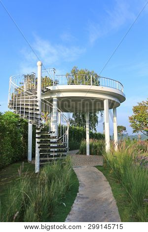 The Curved Stair To Top Of Hillside Viewpoint.