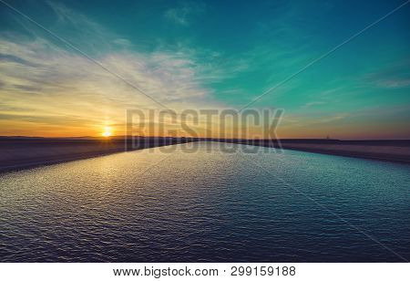 Natural Beauty Of Sunset And View Of Sky
