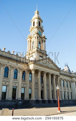 South Melbourne Town Hall Is A Civic Building Built In 1879. It Is Now Located In The City Of Port P