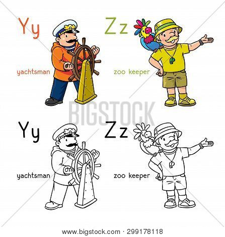 Abc Professions Coloring Book Set English Alphabet