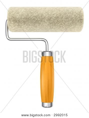 New Roller Isolated Hand Tool For Painting