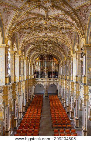 Hillerod, Denmark - June, 2016: Palace Church In The Frederiksborg Castle. Interior Of Frederiksborg