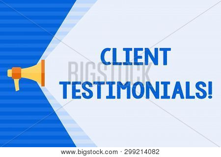 Conceptual Hand Writing Showing Client Testimonials. Business Photo Text Written Recommendation From