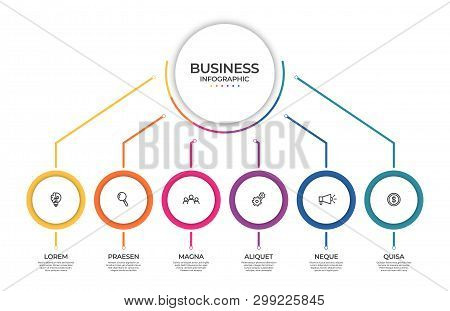 Business Infographic Template. Timeline Concept For Presentation, Report, Infographic And Business D