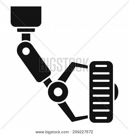 Robot Tire Car Factory Icon. Simple Illustration Of Robot Tire Car Factory Vector Icon For Web Desig