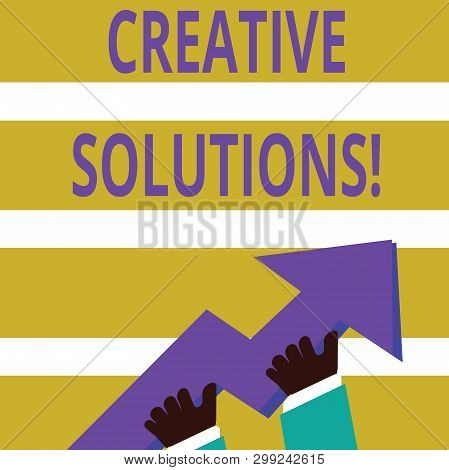 Writing Note Showing Creative Solutions. Business Photo Showcasing Mental Process Of Creating A Solu
