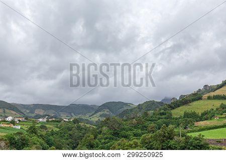 The Small Town Of Fazenda De Santa Cruz In Flores.