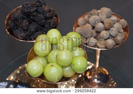 Medicinal Triphala,  Combination Of Ayurvedic Fruits,  Phyllanthus Emblica Linn.,terminalia Chebula