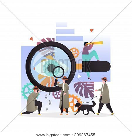 Detective Services Vector Concept For Web Banner, Website Page