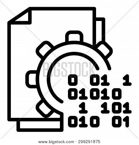 Malicious Code In Action Icon. Outline Malicious Code In Action Vector Icon For Web Design Isolated