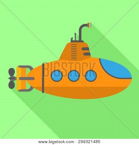 Periscope Submarine Icon. Flat Illustration Of Periscope Submarine Icon For Web Design