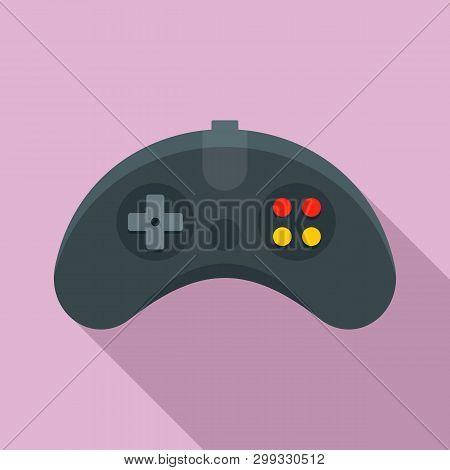 Ergonomic Joystick Icon. Flat Illustration Of Ergonomic Joystick Icon For Web Design