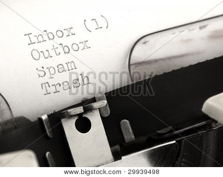 You've got mail, on the typewriter
