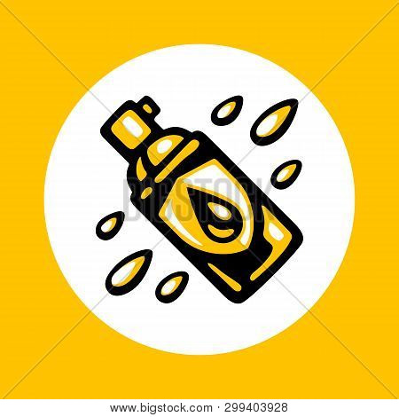 Waterproof Spray Bottle Icon In Trendy Flat Style Isolated On White Background. Water Resistant Aero