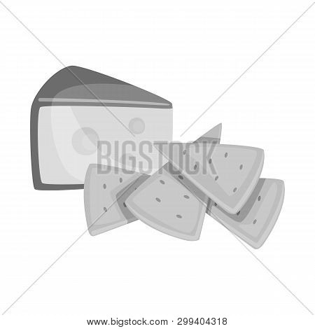 Vector Design Of Cracker And Appetizer  Sign. Collection Of Cracker And Lactic Vector Icon For Stock