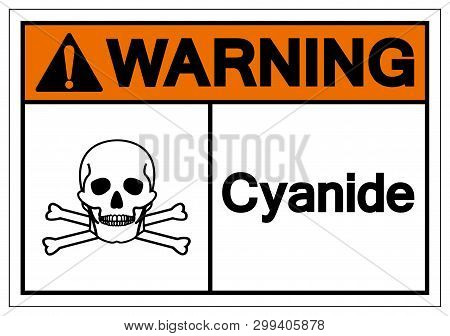 Warning Cyanide Symbol Sign, Vector Illustration, Isolate On White Background Label. Eps10