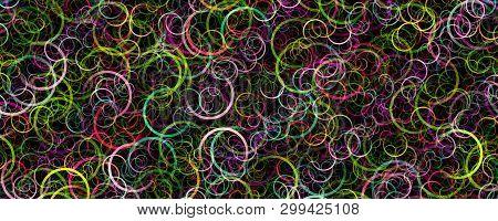 Fantastic Abstract Circle Design Panorama Background Illustration
